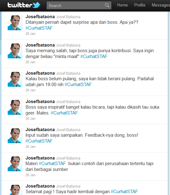 Engagement dan #CurhatSTAF (Part 1)