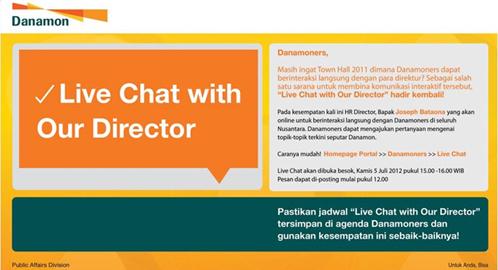 Social Media: Live Chat dengan Karyawan via Portal