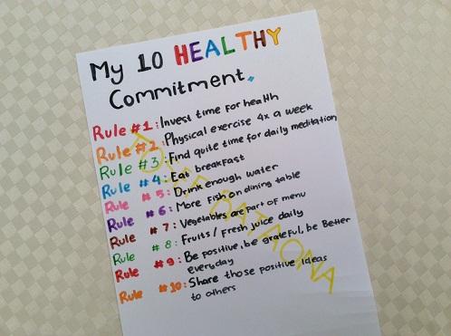 Komitmen Hidup Sehat dan Tenang